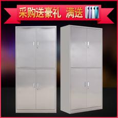 201 304不锈钢通门双节文件柜定制 存放资料办公用储物柜文件柜