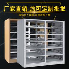 钢制书架学校图书馆单双面书架阅览室转印图书架木护板书架